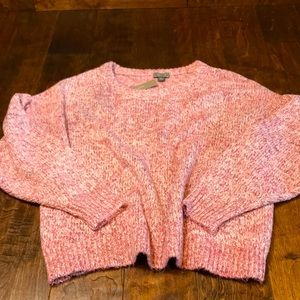 Point Sur for J. Crew pink/white sweater, L